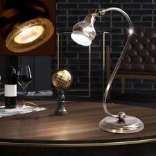 Landhaus Stil Tisch Beleuchtung Arbeits Zimmer Lese Lampe alt messing Glas Ring
