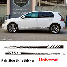 Black Long Stripe Side Body Stripes Racing Race Car Off-Road Vinyl Sticker Decal