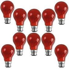 Status Incandescent GLS Fireglow Light Bulb Large Bayonet Cap Red 10