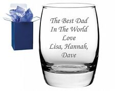 personalised engraved whiskey glass, fathers day gift, free engraving gift boxed