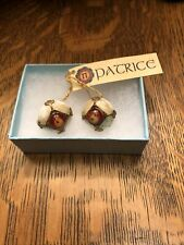 With Brass Clip On Earrings Patrice Jewelry Round Vintage European Glass