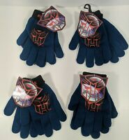 4 Pairs Of TRANSFORMERS Autobots Knit Gloves - Kid's One Size Fits Most - New