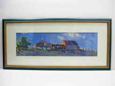 Hans Van Der Donk Framed Farmstead Oil Painting Matted Signed and Framed by