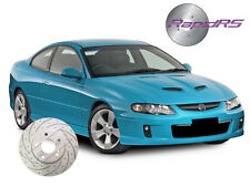 HSV CLUBSPORT R8 MALOO VT VU VX VY VZ SLOTTED DISC BRAKE ROTORS UPG REAR 315 MM