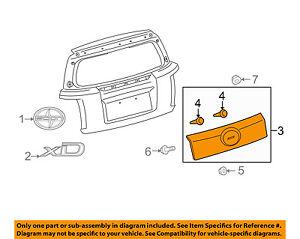 Scion TOYOTA OEM 08-14 xD Liftgate Tailgate Hatch-Finish Panel Trim 7680152300A0