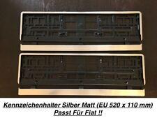 2x Top Kennzeichenhalter Silber Matt Chrom Optik Gebürstet Made in EU (19