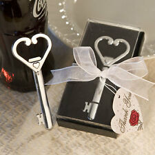 20 Heart Accented Key Bottle Opener Bridal Shower wedding favors