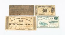 1862 Us Fractional Currency Lot (4) Summit County Richmond Indian Head Mechanics