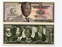 Nelson Mandela Novelty Bill 1 Million Dollars Note - Great Collectors Item