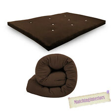 All Sizes Replacement Futon Mattress 9 Colours FREEPOST Chocolate 2 Seater Double