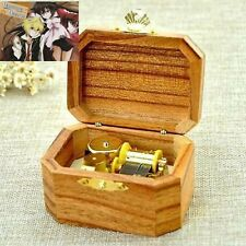 Natural Wood Octagon Wind Up Music Box : Pandora Hearts Everytime You Kissed Me