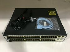 CISCO WS-C3750-48PS-S JOB LOT BUNDLE 2 SWITCHES 10/100 POE CONSOLE CABLE