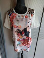 T-Shirt grau Leoparden Muster oui 38 M