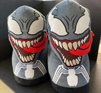 NEW! Marvel Venom XL/XXL Happy Feet Plush Slippers WOMEN'S 9-14, MEN'S 9.5-13