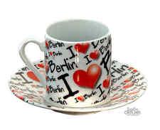 Espresso Cup Set I Love Berlin NIP Espresso Cup Mocha Cup Cup Souvenir