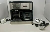 De'Longhi Combination Espresso and Coffee Machine - Black/Silver - USED