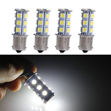 4X 12V White 1156 BA15S 5050 7503 1141 18-SMD LED Car RV Trailer Light Bulbs
