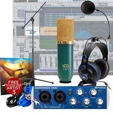 Presonus AudioBox + MXL V67 G Mic + HD7 Headphones + Mic Stand  Recording Bundle
