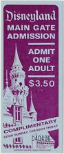 Vintage 1966 Disneyland MAIN GATE ADMISSION Complimentary Ticket UNUSED MINT