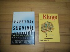2 Books Everyday Survival Why Smart People Do Stupid Things & Kluge Human Mind