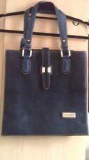 TK MAXX Pierre Cardin Leather Shoulder Tote Bag Navy Midnight Blue