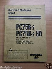 Komatsu PC75R-2 , PC75R HD Operation & Maintenance Manual
