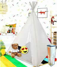Teepee Pop Up Tent for Kids Indoor or Outdoor Foldable Playhouse Fort White  5'
