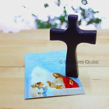 """New First Communion Small Religious Hand Cross 3.5"""" Height w/ Prayer Card"""