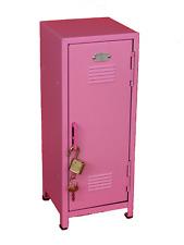 """Pink Kids Mini Metal Locker Kids Treasure Box - 10.75"""" tall - Steel Construction"""
