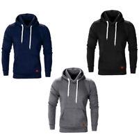 Men's Casual Long Sleeve T-Shirt Hoodie Sweat Shirt Jacket Slim Fit Blouse Tops