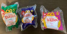 McDonalds Happy Meal Walt Disney Tarzan 1999 Lot Of 3 Sealed
