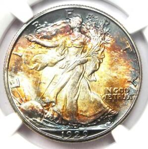 "1929-D Walking Liberty Half Dollar 50C - NGC MS66+ ""Plus"" Grade - $10,500 Value!"