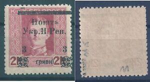 1919 Western Ukraine Stanyslaviv issue 3g/2K MVLH * perforated 11,5 signed