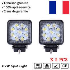2x Feux de travail Spot LED 42W Rond lampe tracteur JEEP phare longue portée 4X4