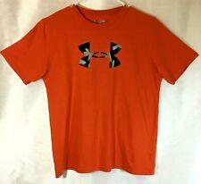Under Amour Men's Heat Gear Tangerine Orange Loose-Fitting Tee Shirt Xs