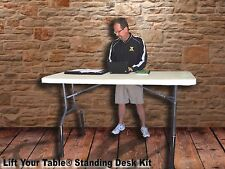 Lift Your Table® STANDING DESK KIT Risers to convert a table to STANDING DESK!