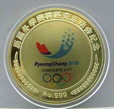 2018 PyeongChang Winter Olympic Gold Colour Coin