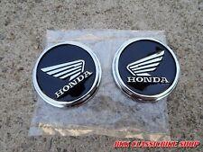 Honda Monkey Gorilla Z50 Z50J Monkeybike FUEL TANK EMBLEM 1PAIR ( BLACK ) 48mm.