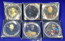 Star Trek Next Generation Crew Mini Plate Set of 6-Presents-MIB (SRP-042)