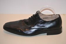 STACY ADAMS CORRADO Men's Black Leather Oxfords Square Toe Lace Up Shoes Size 12
