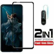 For Huawei Nova 5T 9H Full Tempered Glass Screen Protector +Lens film 2 in 1