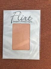 Flirt Natural Tan Designer Fine Net Tights/Pantyhose, One Size, UK 8-14, BNWT