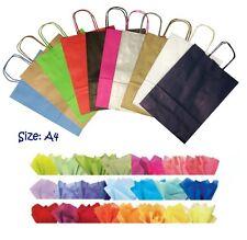 10 X Papier Fête Sac Cadeau Taille A4 ~ Boutique Magasin Sac Transport & Tissu