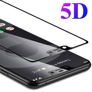 5D Curved 9H Tempered Glass Film Protector for Google Pixel 3 3XL/2 2XL Screen