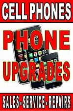 Poster Cell Phone Upgrades Sales Service Repair advertising poster sign 24x36