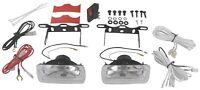 2x4 UNIVERSAL FOG/DRIVING LIGHT/LAMPS W/ WIRING KIT 55 WATT H3 TRUCK SUV RV^^^ZZ