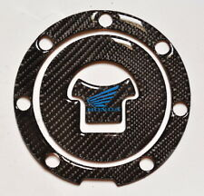 Real CARBON FIBER +blue logo Tank Cap Filler Sticker fits Honda CBR 1000 600 RR