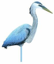 Heron Decoy Fowl Lake Life Size Full Body Blue All Weather Koi Fish Pond Hunting