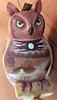 G DeBrekht Clip On Owl Bird Hand Painted Cabin Marsh Lake Scenery Ornament 3.5""