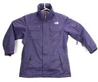 The North Face Womens Large Snowboard Ski Jacket HyVent Coat Zip Pockets Purple